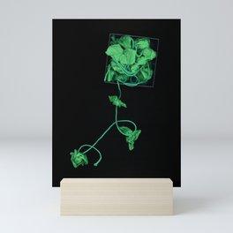 Box of Greens surreal garden Mini Art Print