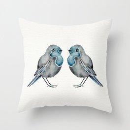 Little Blue Birds Throw Pillow