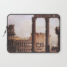 Bernardo Bellotto - Capriccio with the Colosseum Laptop Sleeve