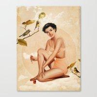 peach Canvas Prints featuring Peach by Heather Landis