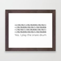 I play the snare drum Framed Art Print