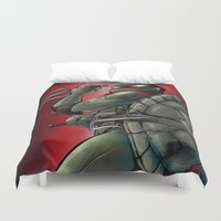 tmnt Duvet Covers featuring Raphael . TMNT by Moonsia