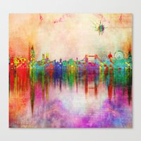 london Canvas Prints featuring london by mark ashkenazi
