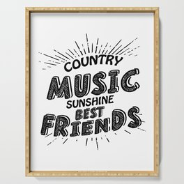 Country Music Sunshine And Best Friends Gift Serving Tray