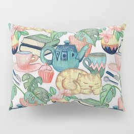 Lazy Afternoon - a chalk pastel illustration pattern Pillow Sham