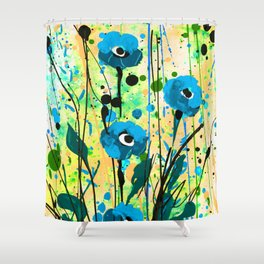 Poppy Dreams No.4f by Kathy Morton Stanion Shower Curtain