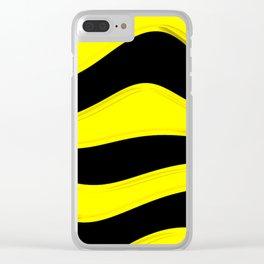 Hot Wavy B Clear iPhone Case