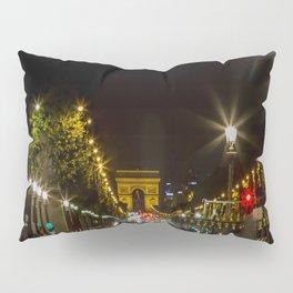 Arc de Triomphe and Champs Elysees Pillow Sham