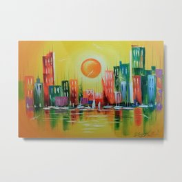 Dream Town Metal Print