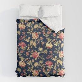 Shabby Floral Print Duvet Cover