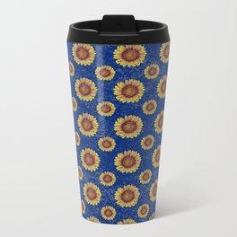 Swirly Sunflower Metal Travel Mug