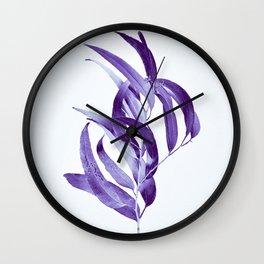 Eucalyptus - ultra violet Wall Clock
