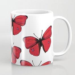 Red butterfly Spring Art Coffee Mug