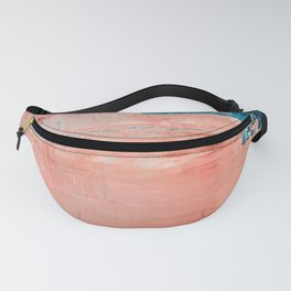 Energy: a vibrant minimal abstract piece in pink and blue by Alyssa Hamilton Art Fanny Pack