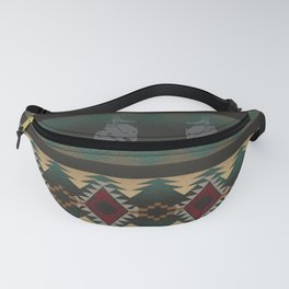 southwest stripe with horses Fanny Pack