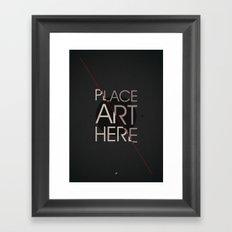 The Art Placeholder Framed Art Print