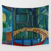 venice Wall Tapestries featuring Venice by Noura Bouzo
