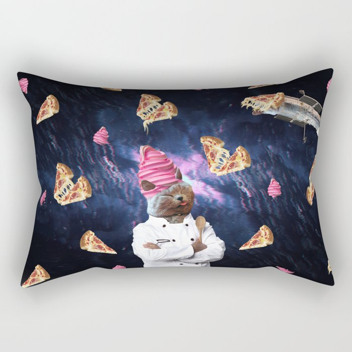 Cat Chef Pizza IceCream Rectangular Pillow