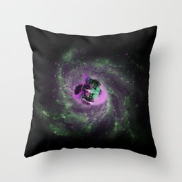 Cat in the Center on Space Throw Pillow
