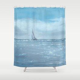 Newport Beach Sailing Shower Curtain