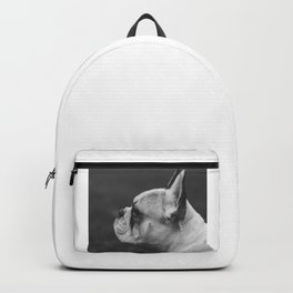 Wistful monochrome Frenchie Backpack