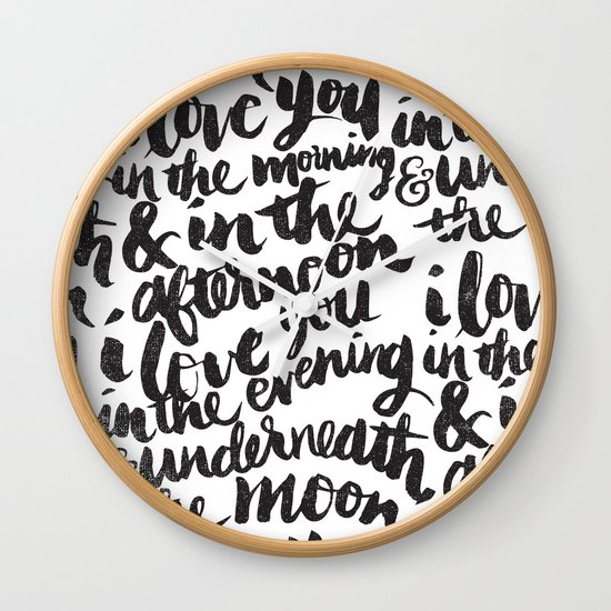 I love you in the morning Wall Clock