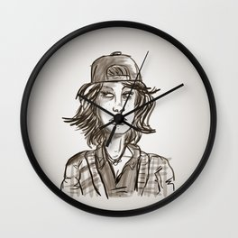 Hypebeast with Braces as a Girl Wall Clock