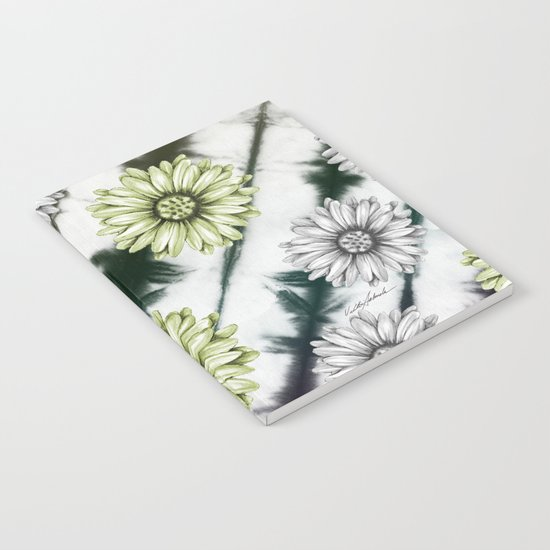 Green Daisies Smile Notebook