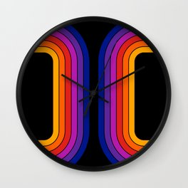 Black Rainbow Tunnel Wall Clock