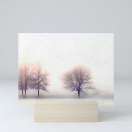 Silent Snowy Winter Morning Sunrise Mini Art Print