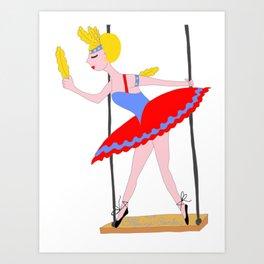 Circus Trapeze Artist Circus Party Art Print