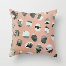 Pink Holes Throw Pillow