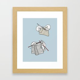 stitch after stitch Framed Art Print