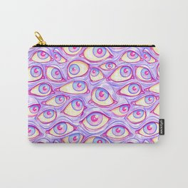 Wall of Eyes in Purple Carry-All Pouch