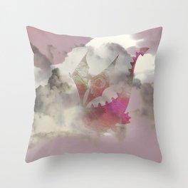Pink Cloud Dragon Throw Pillow