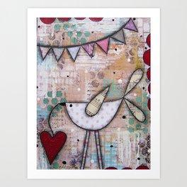 Bird & Heart Art Print
