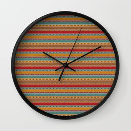 Tribal ethnic seamless pattern design Wall Clock