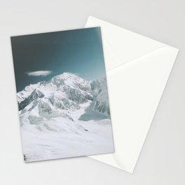 Snowy Mountain : Mount Denali, Alaska Stationery Cards