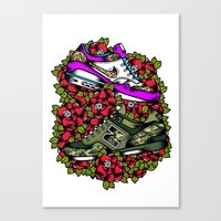 sneakers Canvas Prints featuring Sneakers by DerickJames