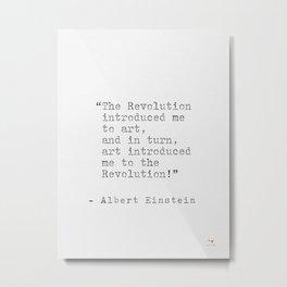 Albert Einstein popular quote Metal Print
