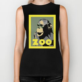 Retro Zoo Berlin monkey travel advertising Biker Tank