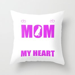 Rescue Dog Moms Full Heart Mothers Day T-Shirt Throw Pillow