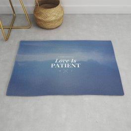Love is Patient - 1 Corinthians 13:4 Rug