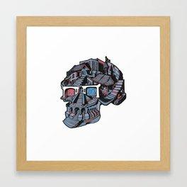 Constructive 3d Glasses Framed Art Print