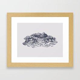 Cloud Mountains Framed Art Print