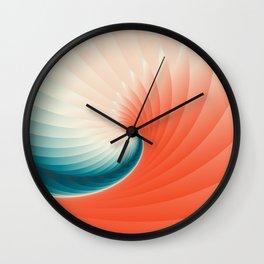 Retro Geometric Wave Wall Clock