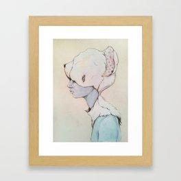 Portrait E Framed Art Print
