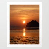 Sunset at Andaman Coast, Thailand Art Print