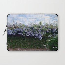 Blue flowers and skies Laptop Sleeve