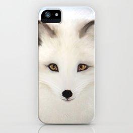 Inquisitive Arctic Fox iPhone Case